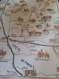 Hand-drawn map for guests